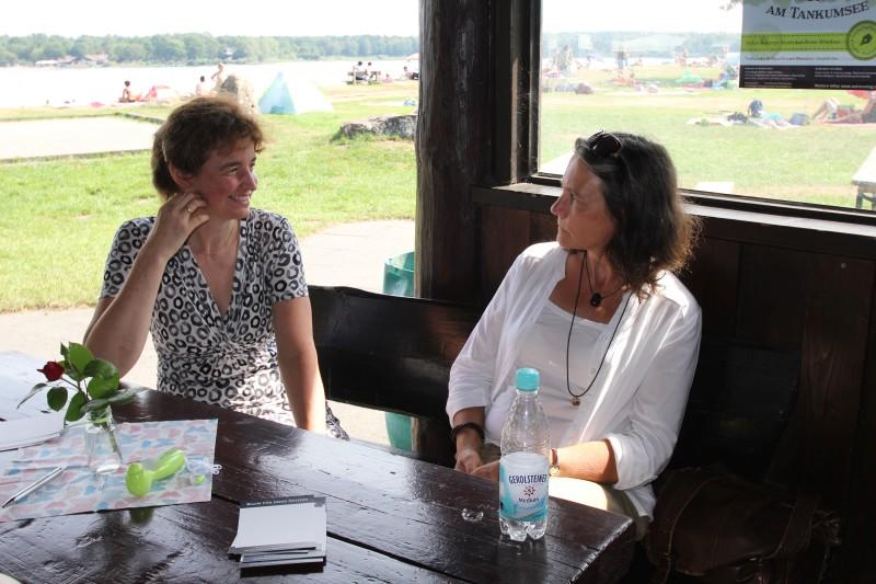 Diana Müller und Bianca Bolduan im Gespräch