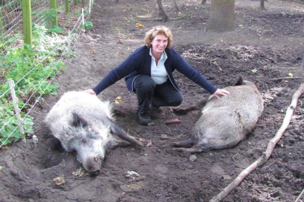 Corinna Michelsen mit Emely und Willy