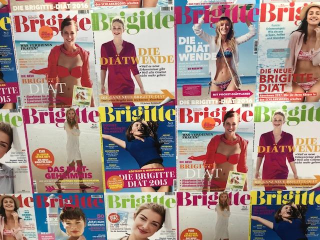 Cover der Zeitschrift Brigitte - Collage im Kunstmuseum Wolfsburg