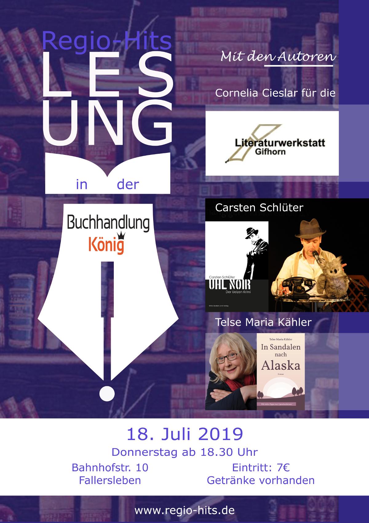 Lesung 19.07.2019 Buchhandlung König