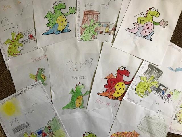Kinderzeichnungen vom Hoffest in Isenbüttel