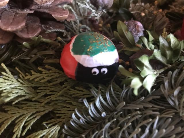 Weihnachtlicher Glückskäfer