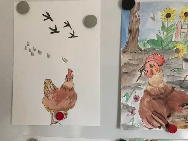 Bruni, ein Huhn mit Abenteuerlust