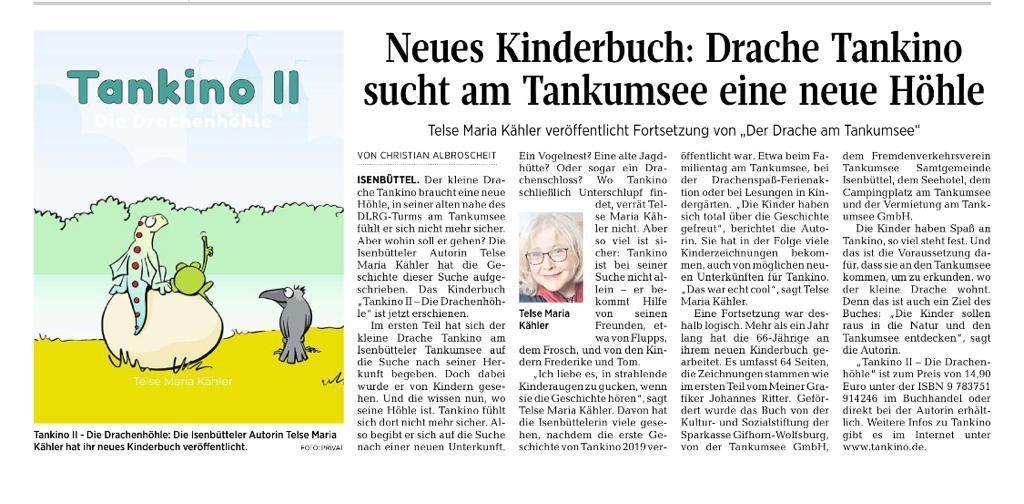 Tankino in der Aller-Zeitung