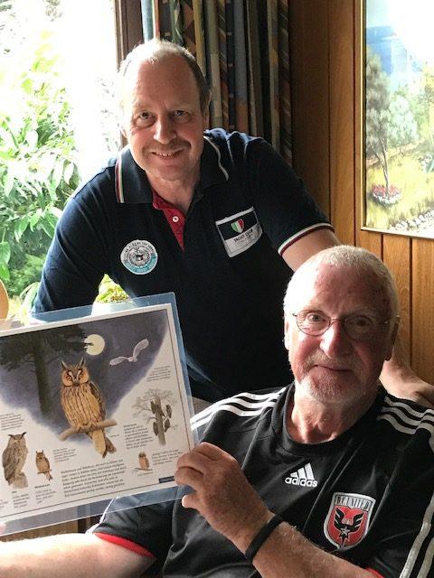 Lutz und Keith von der Ornithologischen Arbeitsgemeinschaft Barnbruch