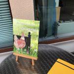 """das Buch """"Ein Huhn namens Bruni"""" auf dem Hof in Isenbüttel"""